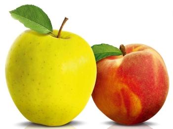 Персики и яблоки полезны для укрепления волос