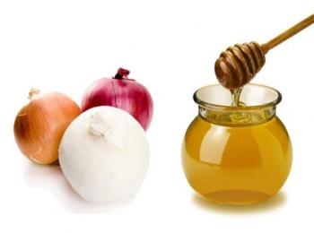 Жидкий мед и луковицы разных сортов